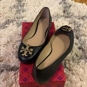 TORY BURCH Claire ballet flats in black